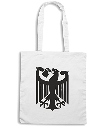T-Shirtshock - Bolsa para la compra BEER0067 Germany coat of arms eagle beer Blanco