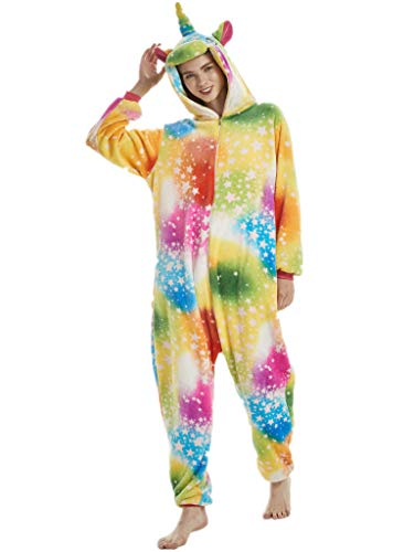 (Adult Onesie for Women Plus Size Halloween Costumes Men Unicorn Animal)