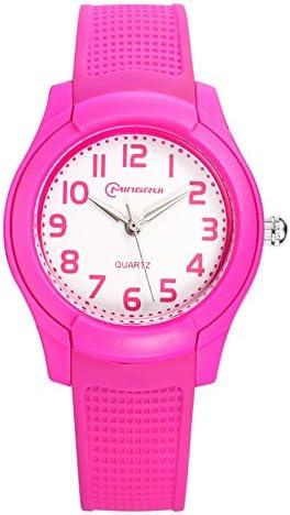 [子]防水時計ガールズボーイズ学生[ Lovely ] Quartz Watches Jelly Watchゴムピンバックルstrap-h
