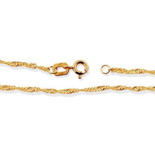 LIOR - Chaîne en or jaune - 60cm de long - largeur 0.25 cm