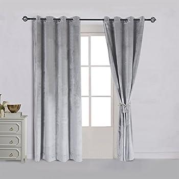 Amazon.com: Soho Gray Grommet Blackout Window Curtain Panel, Solid ...