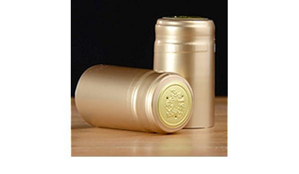 Termorretráctiles para botella de vino cápsulas, 100 Count Gold (Glossy): Amazon.es: Hogar