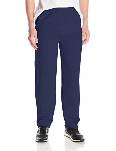 Hanes Men's EcoSmart Open Leg Fleece Pant with Pockets, Navy, M Fleece Mens Pants
