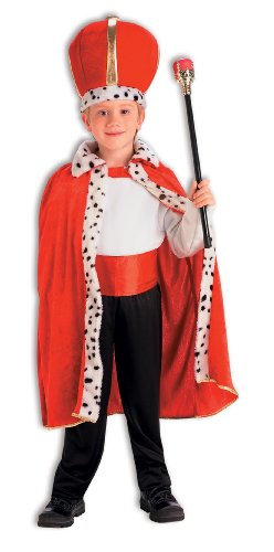 King Robe And Crown Set Kids Costumes (King Robe And Crown Set Child Costume - Kid's Costumes)