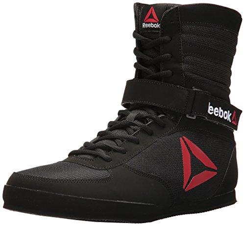 Reebok Men's Boot Boxing Shoe, Buck-Delta Black/White, 10 M US (Best Shoes For Boxing Workout)