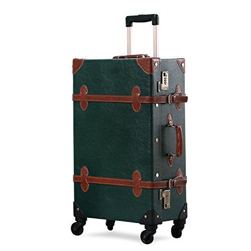 vintage luggage with wheels - 3