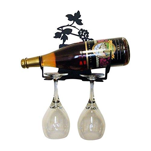 Iron Wall Mount Grapevine Wine Rack Xxs - Heavy Duty Metal Wine Holder, Wine Bottle Holder