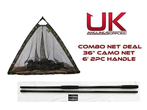 Dinsmores Camo Power 36 Folding Specimen Net /& 6 2pc Specimen Carp//Pike Handle