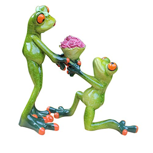- Dolity Funny Resin 3D Frog Novelty Gifts Loving Couple Figurine Office Desktop Decoration Crafts