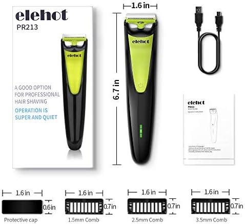 ELEHOT afeitadora eléctrica para hombres barba recortadora 3 ...