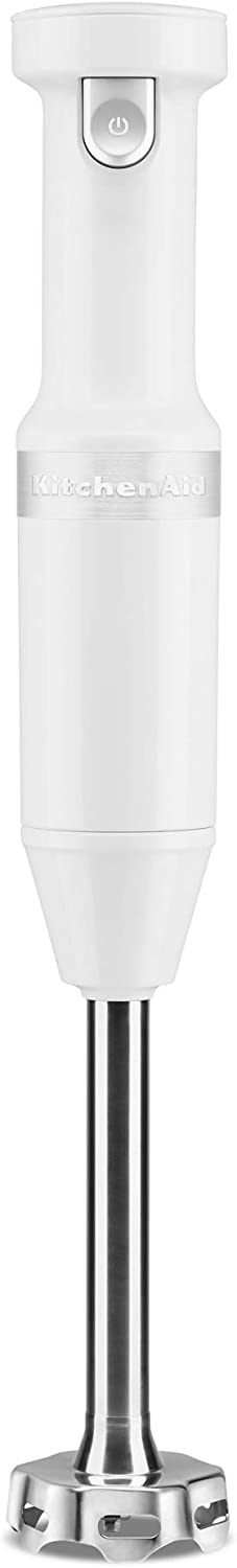 KitchenAid KHBBV53WH Cordless Hand Blender, 8 inch, White