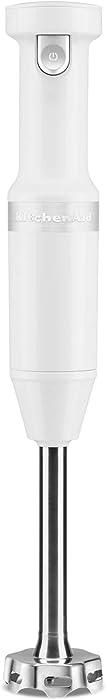 KitchenAid KHBBV53WH Cordless Hand Blender, 8 inch, White