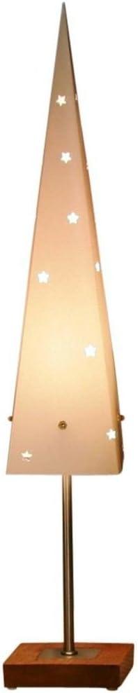 color crema Star Cone Top L/ámpara de pie de papel