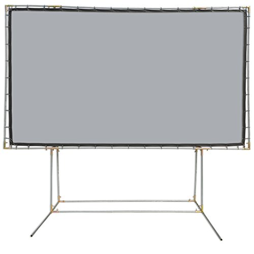 Contrast Material Screen High Grey - Carl's FlexiGray Standing Projector Screen Kit (16:9 | 9x16-Ft | 214-in) Outdoor Projection Screen, HD, Low Ambient Light, High Contrast Gray/Grey, DIY Movie Screen, Stand Poles NOT Included