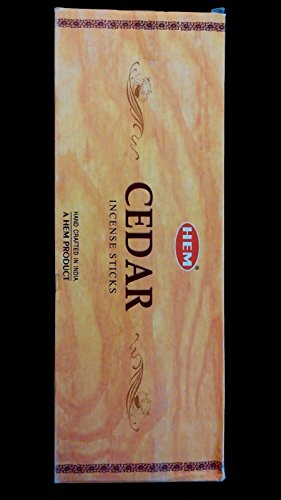 CEDAR 6 Boxes of 20 = 120 HEM Incense Sticks Bulk Case Retail Display