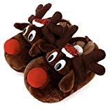 wfl women slippers christamas gift fluffy cozy slippers indoor animal shoes