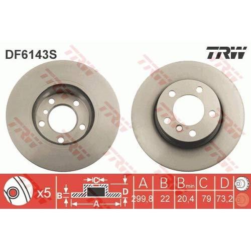 Trw DF6143S Disco Freno