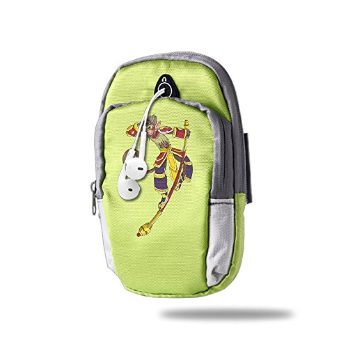 Illinois Monkey (BENS The Monkey King Armband Arm Bag Package For Sports Running For Iphone Samsung Galaxy Key)