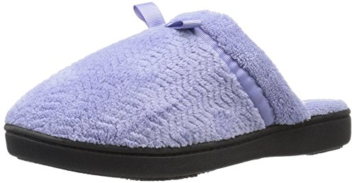 ISOTONER Women's Chevron Microterry Clog Slippers Periwinkle HQgX7PZo3
