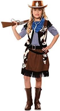 Disfraz de Vaquera con estampado vaca para niña: Amazon.es ...