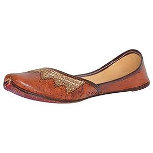 AMPEREUS Leather Ethnic Mojari/Jutti for Women's and Girls