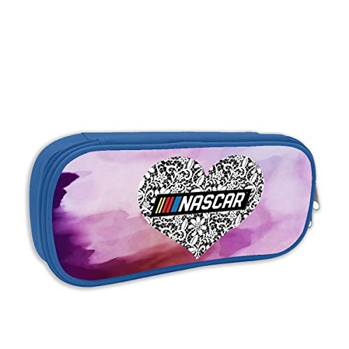 Jan Grantf Nascar Pen Case Pencil Bag Big Capacity Multifunction Canvas-Blue for Boy Girl