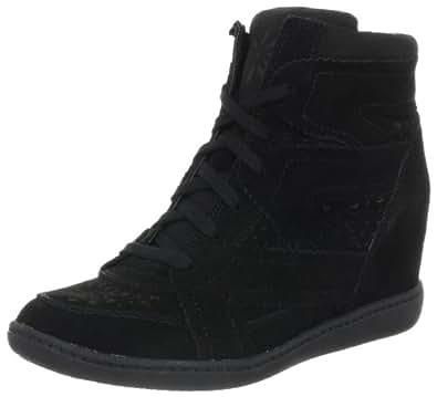 Skechers Women's Plus 3 Higher Love Fashion Sneaker,Black,5 M US