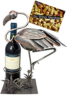 BRUBAKER Porta botella de vino Flamingo - Decoraciónn soporte de ...