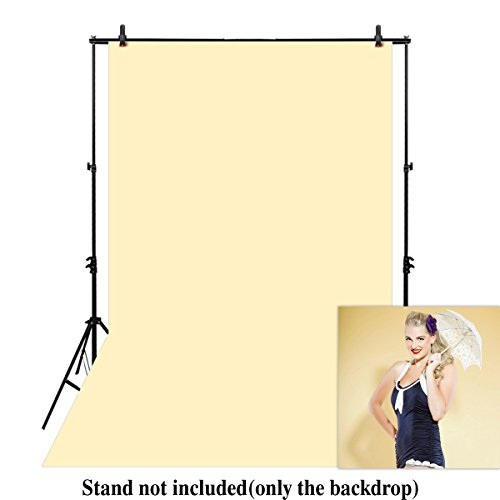 Funnytree 6.5X10FT Polyester Buttercream Yellow Solid Color Pure Photography Backdrop Soft Fabric Baby Indoor Portrait Background Photo Studio props by Funnytree