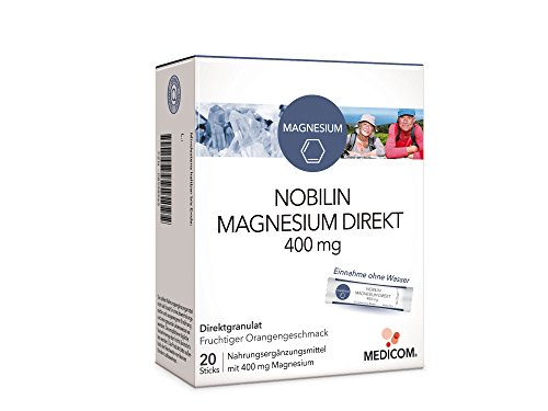 NOBILIN MAGNESIUM DIREKT 40 Sticks - Magnesiumcitrat 400 mg auch als Magnesium Tabletten 200 mg oder Brausetabletten 200 mg erhältlich