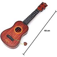 BM Acoustic Guitar Ukulele Instruments Beginner 4-Strings Play Guitar Musical Learning Toy Best Gift for Kids ( Brown, 43 cm )