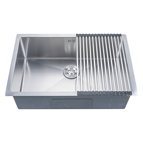 CO-Z Deep Stainless Steel Home Kitchen Single Bowl Sink, 18