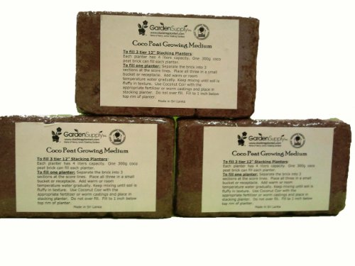 41fUbJ-lDLL Coco Peat Organic Growing Medium, Set of 3 Bricks