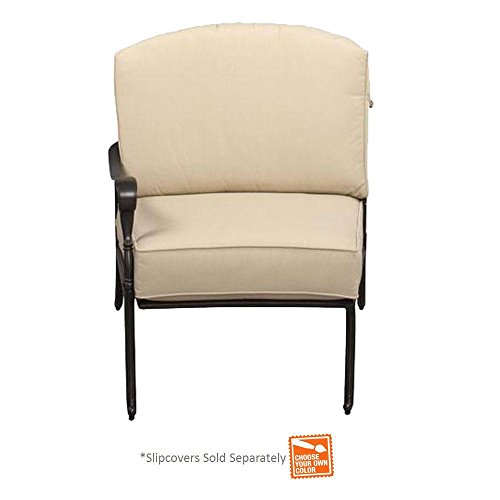 Edington Left Arm Patio Sectional Chair with Bare Cushion (Outdoor Furniture Pacific Bay)