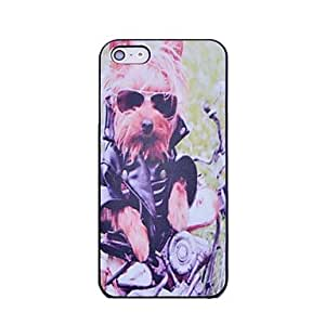 Mini - Lureme Rock Dog Pattern Hard Case for iPhone 5/5S
