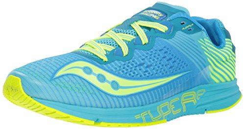 (Saucony Women's Type A8 Sneaker, Blue/Citron, 7.5 M US )