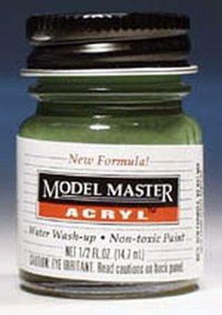 Testors Model Master Acrylic Semi Gloss Russian Armor Green