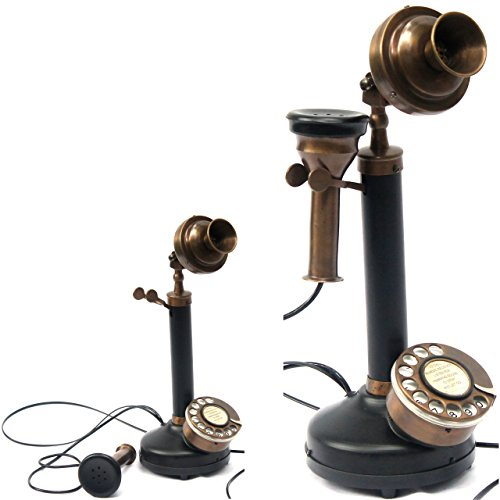 Contemporary Style Table Decorative Authentic Model Candle Phone Black