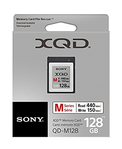 Sony 128GB XQD Memory Card M Series (up to 440MB/s Read) w/File Rescue Software by Sony
