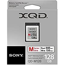 Sony 128GB XQD Memory Card M Series (up to 440MB/s Read) w/File Rescue Software