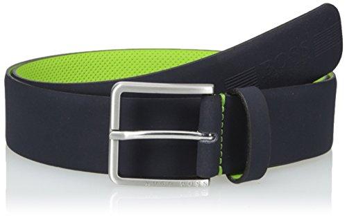 Boss Green Men's Tiago Smooth Italian Leather Belt, dark blue, - Designer Boss