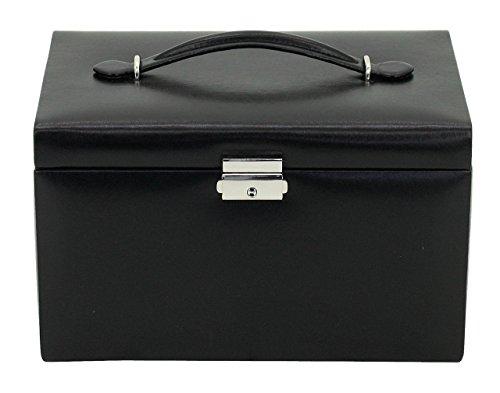 Friedrich|23 Damen-Schmuckkasten Classico Leder schwarz - 23231-2