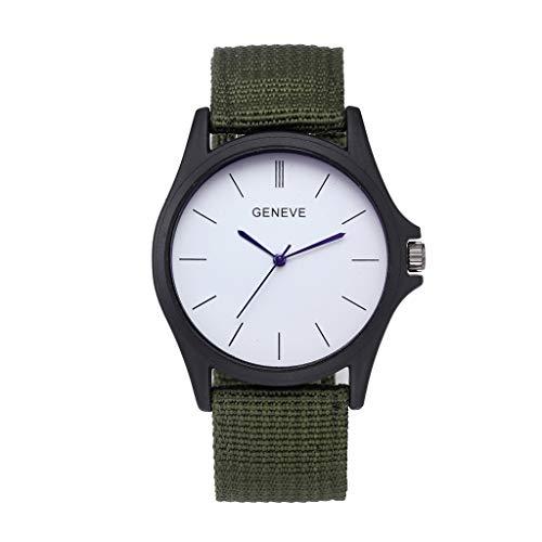 Watch,YJYdada Classic Men Watch Wrist Nylon Mesh Belt Watch Strap Quartz Casual Watches (Army Green) ()