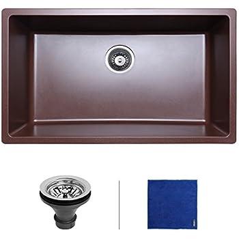Undermount Granite Kitchen Sink Enbol 31 inch single bowl undermount granite kitchen sink gss 3118 enbol 31 inch single bowl undermount granite kitchen sink gss 3118 coffee workwithnaturefo
