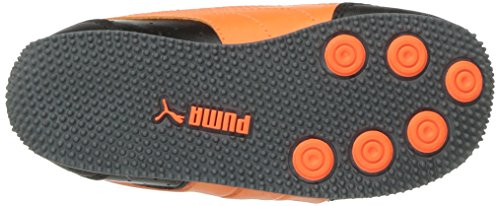 PUMA Baby Speed Lightup Power V Kids Sneaker, Black-Shocking Orange, 5 M US Toddler