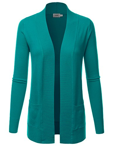 LALABEE Women's Open Front Pockets Knit Long Sleeve Sweater - Sleeve Long Knit Cardigan