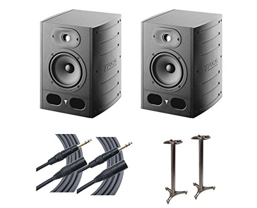 (2x Focal Alpha 50 Active Studio Monitor Speaker + MS-90/45B MKII + Mogami Cables)