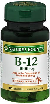 Nature's Bounty Vitamin B-12 1000 mcg Supplement - 100 Tablets