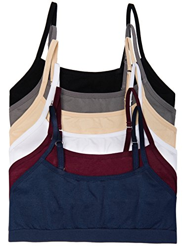 Caramel Cantina 6 Pack Big Girls Seamless Training Bras (Small, 6PK - Bra Training Adjustable