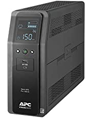 APC by Schneider Electric UPS, 1500VA Sine Wave UPS Battery Backup & Surge Protector, BR1500MS2 Backup Battery with AVR, (2) USB Charger Ports, Back-UPS Pro Uninterruptible Power Supply